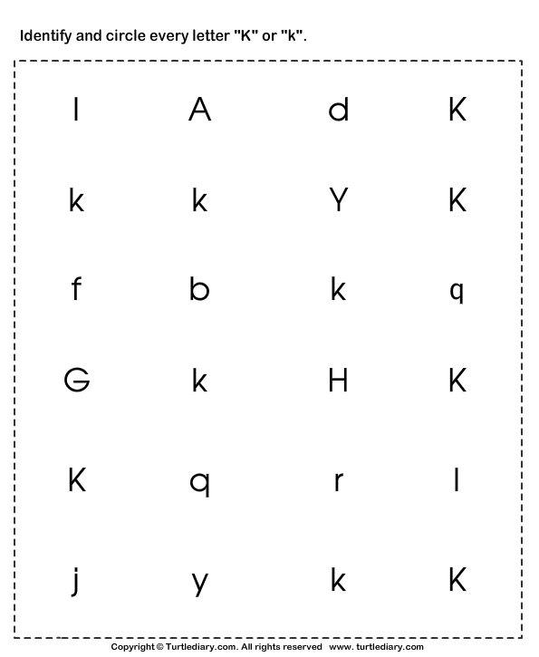 Identify the Letter in Upper and Lower Case