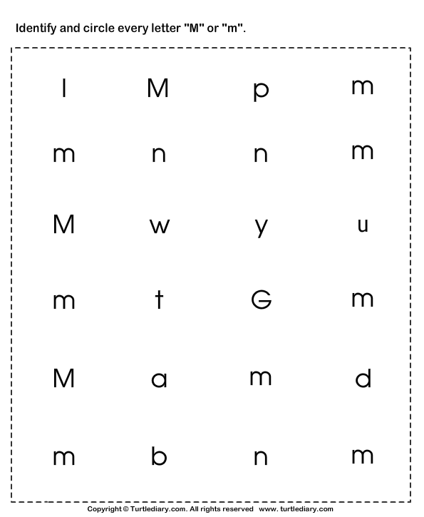 Identify the Letter in Upper and Lower Case Worksheet ...