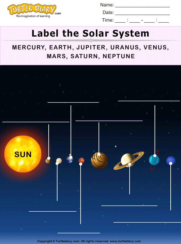 Label the Solar System