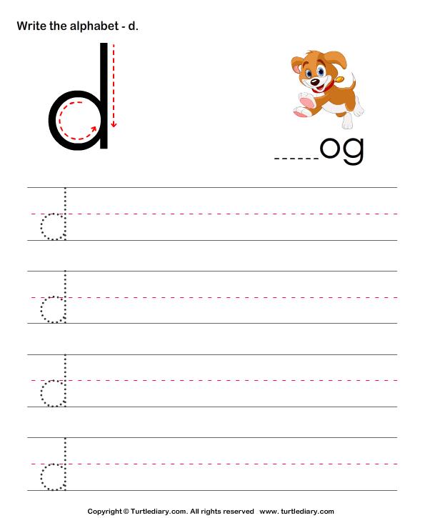 Gallery For u0026gt; Lowercase D Worksheet