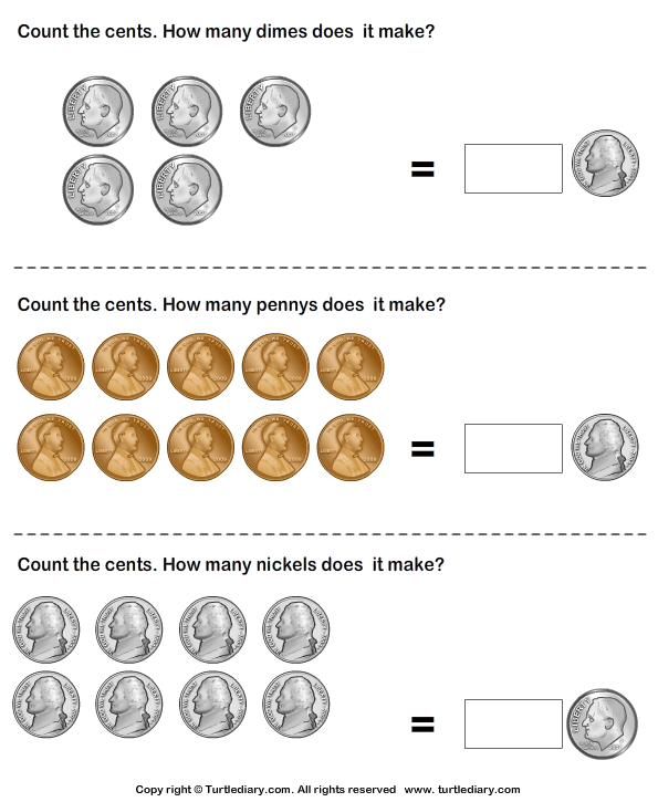 make same amount with different number of coins worksheet turtle diary. Black Bedroom Furniture Sets. Home Design Ideas