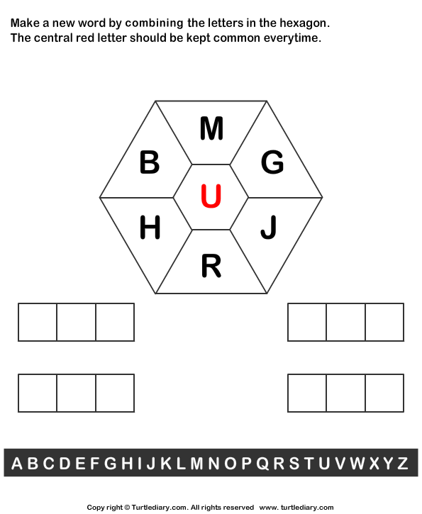 combine letters to make new words