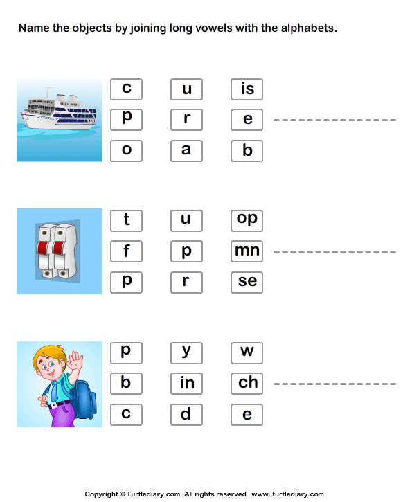 Connect the Long Vowels