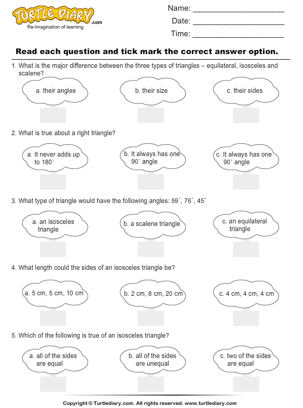 Triangles : Multiple Choice Questions