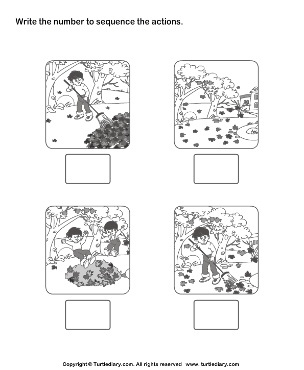 Picture Sequencing Garden Cleaning Worksheet Turtle Diary – Picture Sequencing Worksheets