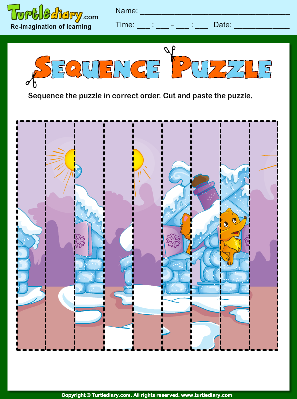 picture sequencing puzzle worksheet