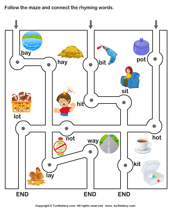 Connect the Rhyming Words
