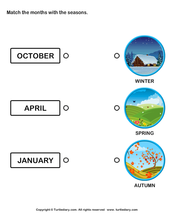 Match the Months with the Seasons