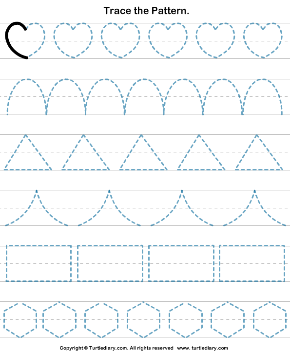 Shapes Tracing Worksheet Turtle Diary – Tracing Worksheet