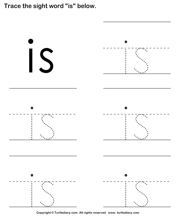 Trace the Sight Words Worksheet - Turtle Diary