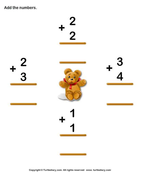 Number Names Worksheets : addition practice first grade ~ Free ...