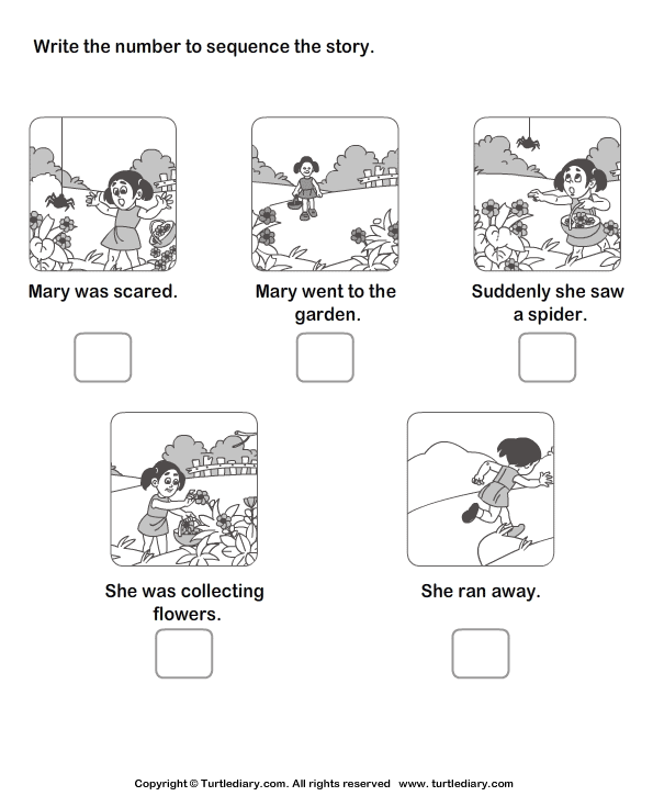 Story Sequencing Mary Went to the Garden Worksheet Turtle Diary – Story Sequencing Worksheets for Kindergarten