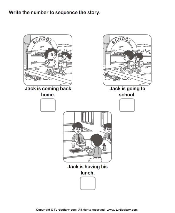 Story Sequencing Routine of Jack Worksheet Turtle Diary – Sequencing Worksheets