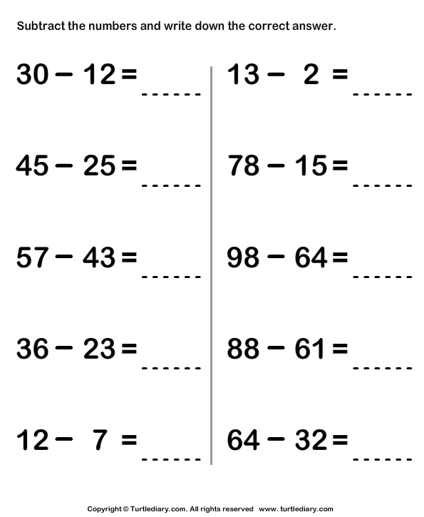 Number Names Worksheets Triple Digit Subtraction Free – Triple Digit Subtraction Worksheets