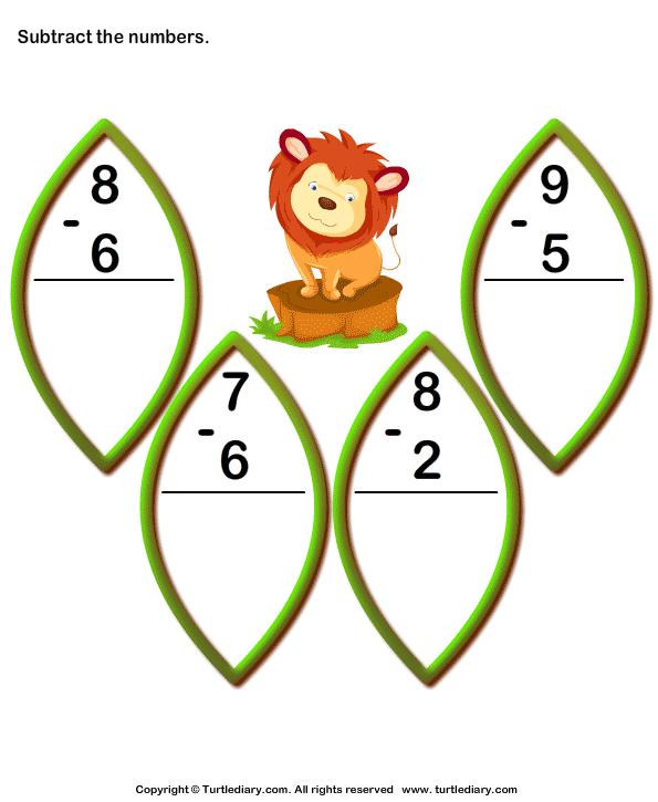 Subtract 1-digit Numbers