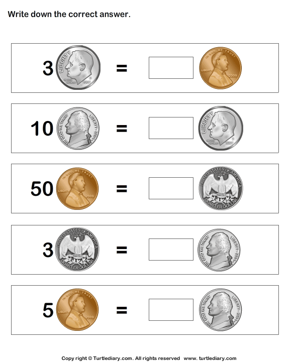 Equivalent Amount with Same Coins
