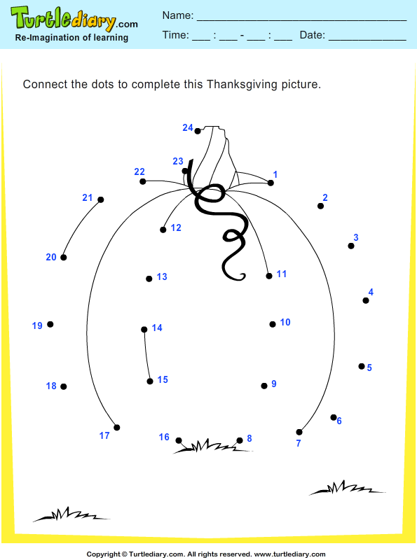 Thanksgiving Connect the Dots