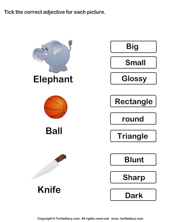 math worksheet : kindergarten worksheets on adjectives  worksheets on adjectives  : Adjective Worksheets For Kindergarten