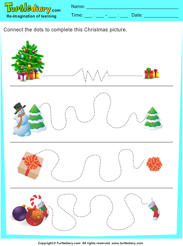 Christmas Tracing Pages