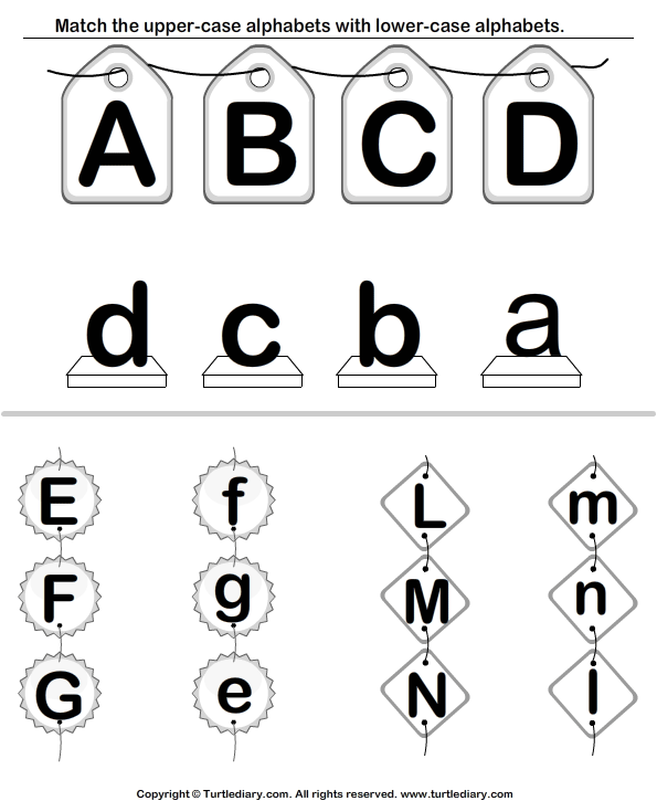 Number Names Worksheets lowercase letter worksheets : Uppercase and Lowercase Letters Worksheet - Turtle Diary