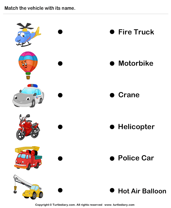 Vehicles - Identify and Match Names