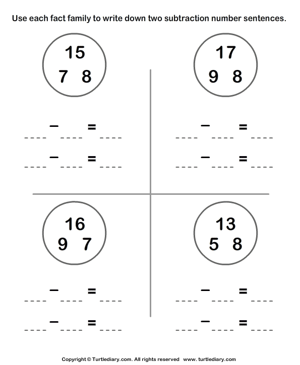 Subtraction Worksheets » Free Subtraction Worksheets With Pictures ...