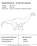 Dinosaurs - determine the period and food habits