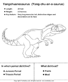 Dinosaurs - determine the period and food habits 6