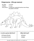 Dinosaurs - determine the period and food habits 7