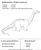 Dinosaurs - determine the period and food habits 3
