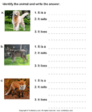 Write the names of dog family animals 3