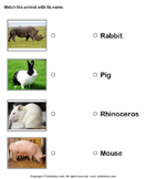 Match animals to their names 7