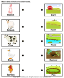 Match farm animals to their homes