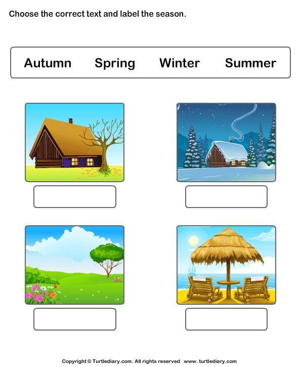 Label the seasons
