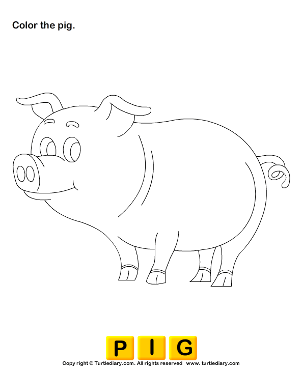 Color the farm animals - TurtleDiary.com