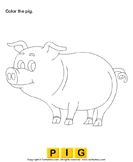 Color the farm animals 1