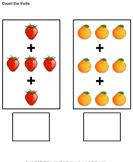 Addition with Fruits - addition - Kindergarten
