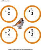 Add Two One Digit Numbers and Write the Sum