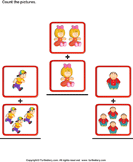 Addition with Pictures - addition - Kindergarten