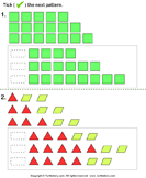 Growing Pattern - shapes - Kindergarten