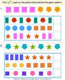 Similar Pattern - shapes - Kindergarten