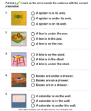 math worksheet : preposition worksheets  turtle diary : Preposition Worksheets Kindergarten