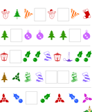 Christmas Patterns - christmas - First Grade