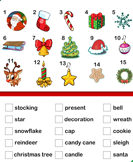 Christmas Vocabulary - christmas - First Grade