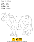 Color the Farm Animals - animals - Preschool