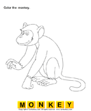 Color the Wild Animals - animals - Preschool