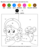 Color the Child by Numbers