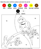 Color the Parrot by Numbers