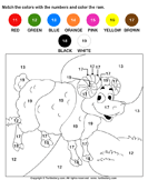 Color the Ram by Numbers