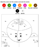 Color by Number - whole-numbers - Preschool